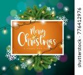 vector merry christmas... | Shutterstock .eps vector #776412976