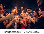 group of people celebrating... | Shutterstock . vector #776413852