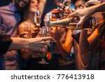 cropped shot of a group of... | Shutterstock . vector #776413918