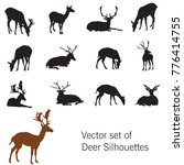 set of vector standing and... | Shutterstock .eps vector #776414755