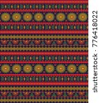 seamless ethnic  pattern with... | Shutterstock .eps vector #776418022