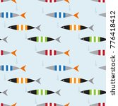 seamless pattern with fish... | Shutterstock .eps vector #776418412