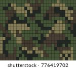 abstract digital camouflage... | Shutterstock .eps vector #776419702