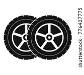 car tyre icon. simple... | Shutterstock .eps vector #776427775