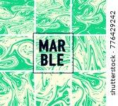 marble texture set. neon green  ... | Shutterstock .eps vector #776429242
