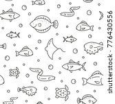 seamless pattern with sea fish  ... | Shutterstock .eps vector #776430556