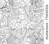 tracery seamless pattern.... | Shutterstock .eps vector #776432326
