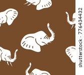 elephant head seamless pattern | Shutterstock .eps vector #776434432