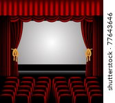 theater stage  with red... | Shutterstock .eps vector #77643646