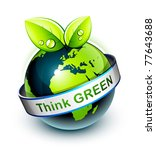think green | Shutterstock .eps vector #77643688