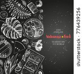vietnamese food poster. a set... | Shutterstock .eps vector #776439256