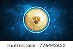 ethereum symbol on futuristic... | Shutterstock . vector #776442622