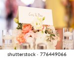wedding table decoration with... | Shutterstock . vector #776449066