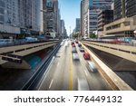 cars moving on paulista avenue  ... | Shutterstock . vector #776449132