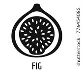 fig icon. simple illustration... | Shutterstock .eps vector #776454082