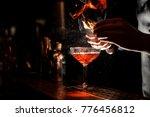 bartender s hands sprinkling...   Shutterstock . vector #776456812