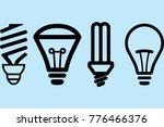 light bulb line icon vector ...