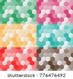 set of seamless pattern of...   Shutterstock .eps vector #776476492