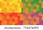 set of seamless pattern of... | Shutterstock .eps vector #776476495