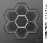 logo design based on hexagons | Shutterstock .eps vector #776476612