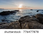 sunset sea beach stone boat | Shutterstock . vector #776477878