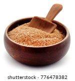 brown sugar with wooden scoop... | Shutterstock . vector #776478382