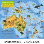 australia and oceania flora and ... | Shutterstock .eps vector #776481226