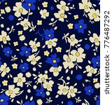 cute floral pattern in the...   Shutterstock .eps vector #776487292