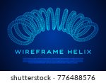 wireframe low poly mesh tension ... | Shutterstock .eps vector #776488576