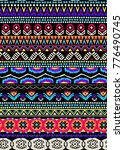 seamless pattern with ethnic... | Shutterstock .eps vector #776490745