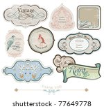 vintage labels set  vector | Shutterstock .eps vector #77649778