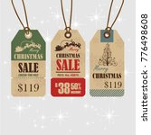 christmas sale paper tags... | Shutterstock .eps vector #776498608