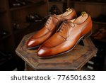 shoes brown casual man