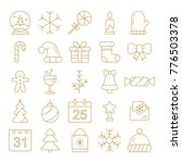 new year icons. christmas party ... | Shutterstock .eps vector #776503378