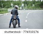 rear view of unrecognizable... | Shutterstock . vector #776510176
