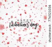 happy valentines day lettering... | Shutterstock . vector #776521036