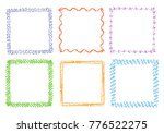 crayon hand drawing square...   Shutterstock .eps vector #776522275