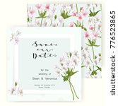 save the date card  wedding... | Shutterstock .eps vector #776523865