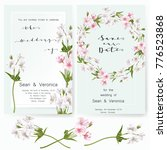 save the date card  wedding... | Shutterstock .eps vector #776523868