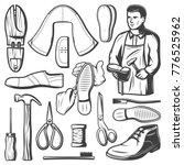 vintage shoemaking elements set ... | Shutterstock .eps vector #776525962