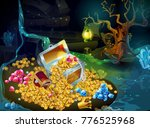 cartoon game treasure and... | Shutterstock .eps vector #776525968
