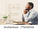 pensive african american... | Shutterstock . vector #776526526