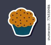 sweet dessert in paper sticker... | Shutterstock .eps vector #776530486