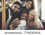 smiling group of diverse young... | Shutterstock . vector #776532916