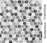 halftone hexagon vintage shabby ... | Shutterstock .eps vector #776537026