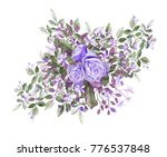 watercolor drawing of twig with ...   Shutterstock . vector #776537848