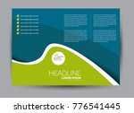 landscape wide flyer template.... | Shutterstock .eps vector #776541445