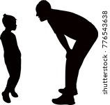 father talking to his daughter | Shutterstock .eps vector #776543638