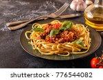italian pasta bolognese. ... | Shutterstock . vector #776544082