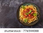 italian pasta bolognese. top... | Shutterstock . vector #776544088